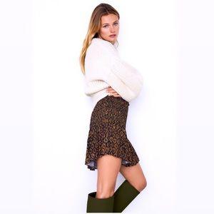Zara High-Waisted Printed Mini Skirt NWT